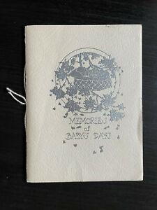 vintage Baby's Memory Book - 1930s