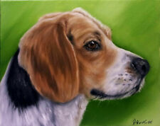 Beagle Dog Oil Painting Animal Pet Portrait Realism Style
