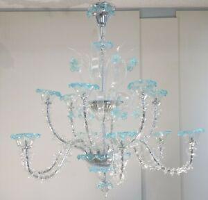 Beautiful hand-blown Murano glass chandelier