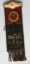 1902 SILVER LAKE MINNESOTA CZECK FRATERNITY Z.C.B.J.  RIBBON BADGE & BUTTONS