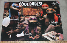1991 TMNT Teenage Mutant Ninja Turtles Fan Club Only Large Movie Poster Leo Don