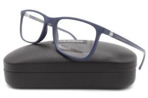 Dolce & Gabbana DG 5027 Eyeglasses Matte Blue 3017 Authentic 55mm
