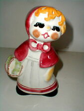 Italian Pottery Hand Painted Child's Nursery Rhyme RED RIDING HOOD Piggy Bank