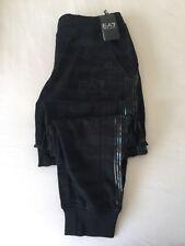 EMPORIO ARMANI EA7 Khaki/Nero Camouflage Graphic Pantaloni sportivi Taglie XS-L nuova con etichetta