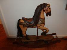 altes Schaukelpferd auch auf Rollen Holz H:75cm L.80cm