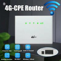 300mbp 4G LTE WiFi CPE Router Wireless Sim Card LAN Modem Dual Antenna 32 Users