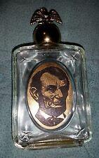 "Vintage Avon Decanter Empty Abraham Lincoln President Usa Eagle 5"" High"