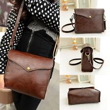 Vintage Womens Leather Shoulder Bag Satchel Handbag Tote Hobo Messenger NICE