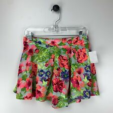Charlotte Russe Bright Aloha Floral Print Shorts Medium New With Tags