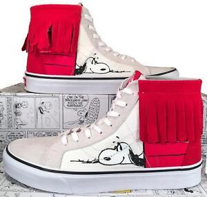 Vans x Peanuts Sk8-Hi Moc Snoopy Charlie Brown Doghouse Limited Rare DAMAGED BOX