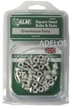 ALM GH004 Pack of 20 Square Glaze Bolts and Nuts For Aluminium Greenhouses