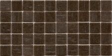 50pcs VTC16 Dark Brown Bisazza Vetricolor Glass Mosaic Tiles 2cm x 2cm