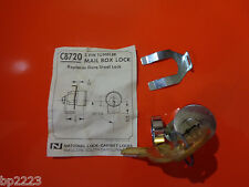 National C8720, Mail Box Lock & Keys, 5-Pin Tumbler, Dura Steel, FC720, NEW