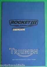 TRIUMPH ROCKET 2300 MOTO MOTORCYCLE POSTER DEPLIANT BROCHURE CATALOGUE
