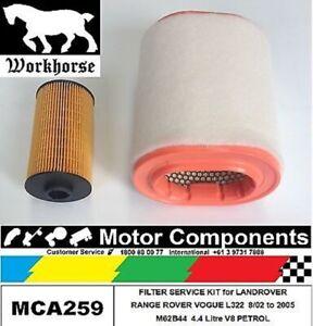 FILTER KIT for LANDROVER RANGE ROVER L322 4.4 M62B44 4.4L V8 PETROL 8/2002-05