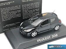 Peugeot 308 175 THP 2008 perla black Norev 473804 1/43
