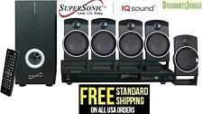 SUPERSONIC SC-37HT 5.1 Channel DVD Home Theater Speaker System +USB Input