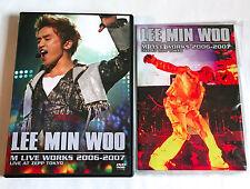 LEE MIN WOO M Live Works 2006-2007 JAPAN EDITION 2 DVD 2007 PCBP-51909 Shinhwa