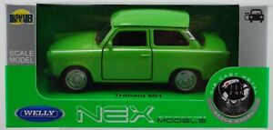 WELLY TRABANT 601 GREEN 1:34 DIE CAST METAL MODEL NEW IN BOX
