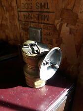 Antique Universal Lamp Co  Brass Calcium Carbide Mining Miner's Headlamp