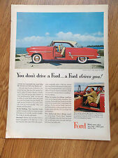 1953 Ford Crestline Victoria Coupe Ad   You Don't Drive a Ford A Ford Drives You