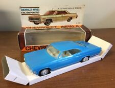 1966 Chevrolet Impala 2-Door Coupe Promo Model Friction Powered Blue With Box