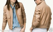 MASSIMO DUTTI ZARA GROUP GENUINE REAL LEATHER JACKET ECHTLEDER LEDERJACKE SIZE L