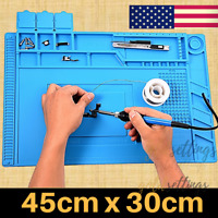 Magnetic Heat Insulation Silicone Soldering Mat Repair BGA Welding Iron work pad