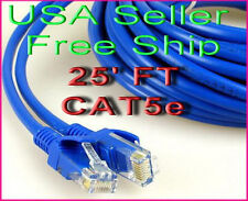 """25 FT feet RJ45 CAT5 CAT5E Ethernet LAN Network Cable Networking Patch Cord 25"""""""