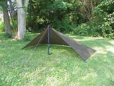 "Ultra light silnylon Backpacking Tarp ""Trail Duster"" - Olive Brown"