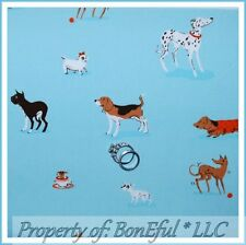 BonEful FABRIC FQ Cotton Free Spirit Heather Ross Dog Puppy Breed Lightening Bug