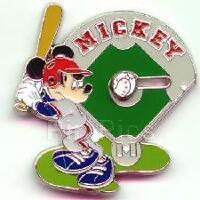 Disney 12 Months of Magic Mickey Mouse Baseball Slider Pin