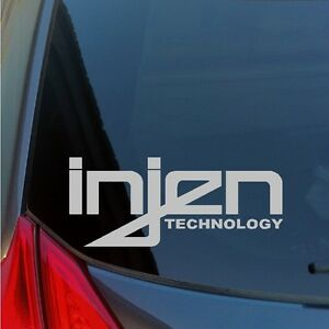 Two INJEN TECHNOLOGY vinyl stickers decals Intake exhaust imports Civic Integra