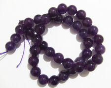 5pz  perline tondo  in ametista  naturale 10mm colore viola
