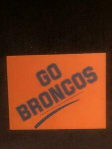 Vintage 1990s Denver Broncos GO BRONCOS Paper Sign Pepsi Cola