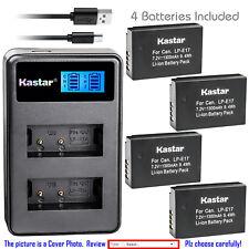 Kastar Battery LCD Dual Charger for Original Canon LP-E17 LC-E17 LC-E17C LC-E17E