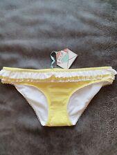 Floozie Yellow Pinstripe Bikini Bottoms Size 14 BRAND NEW