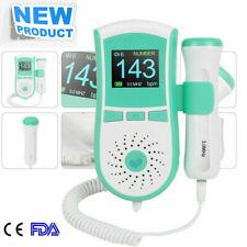 FAST LCD 3MHz Pocket Fetal Doppler Heart Color Display Prenatal Monitor Home Use