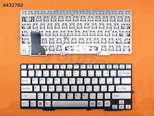 For SONY VAIO SVE13 SVS13 laptop Keyboard US Silver gray Without Frame
