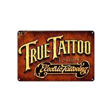 True Tattoo Electric Tattooing Vintage Retro Metal Sign Decor Wall Art Shop Bar