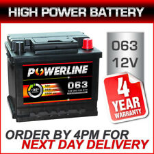 12V Powerline 063 Heavy Duty Car Battery fits many Renault Seat Skoda