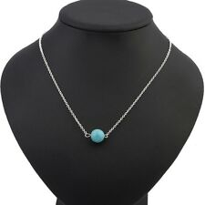 Fashion Vintage Women Charm Collar Bib Statement Necklace Chain Pendant Silver