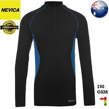 NEVICA THERMAL ZIP TOP FOR JUNIORS - 190 GSM - BLACK/BLUE  == BRAND NEW ==