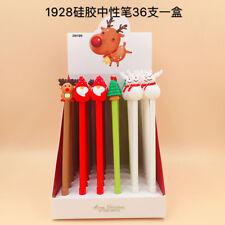 Cute Christmas Reindeer Santa Claus Elk Gel Pen Office School Supplies Gifts