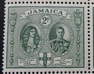 JAMAICA 1945-46 SG135a. KGVI 2d. KING CHARLES II AND KING GEORGE VI  -  MNH