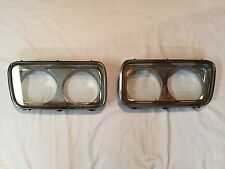 1966 IMPERIAL CROWN/LEBARON PAIR OF HEADLIGHT DOOR GLASS COVER BEZELS