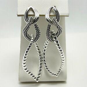 New! $295 Lagos Caviar Sterling Silver Dangle Earrings (5202)