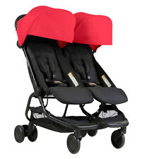 Mountain Buggy Nano DUO Double Stroller In Ruby Brand New!! Free Shipping!!