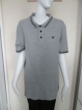 GIO-GOI - GRAY, Logo, POLO shirt ,SIZE  LARGE, 90% COTTON 10% VISCOSE