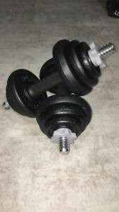 York 20kg Dumbbell Set Cast Iron Spinlock Set Weights Brand. New ✅